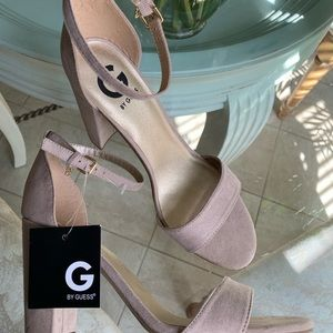 Guess nude heels block 9.5 wedding perfect